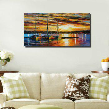 Colorful Sunrise Stunning Landscape Abstract Frameless Painting 20 x 39 inch - COLORMIX