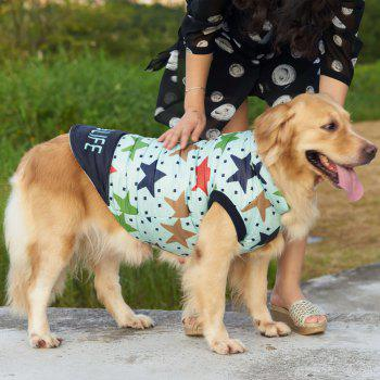 Pet Dog Star Pattern Jacket Clothes - BLUEBELL L