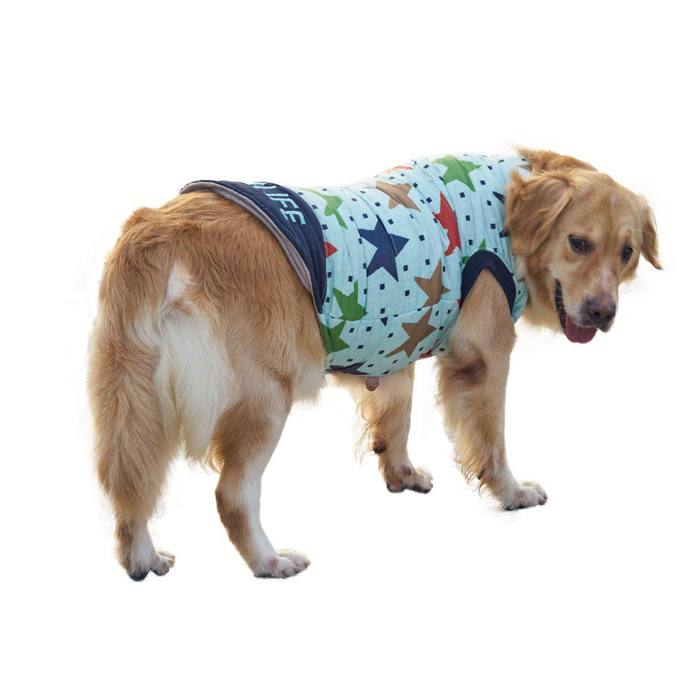 Pet Dog Star Pattern Jacket Clothes - BLUEBELL XS