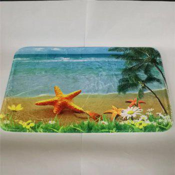 Western Style 3PCS Undersea World Starfish Toilet Seat Cushion - COLORMIX