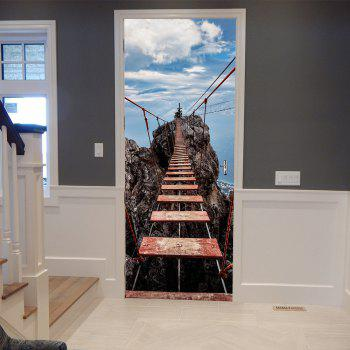 Suspension Bridge Wall Sticker Mural Bedroom Door Poster Home Decor