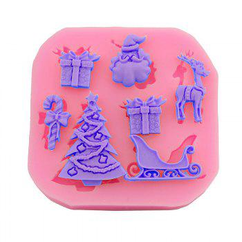 Macroart 2 Pieces Baking Tool DIY High Quality Christmas Cake Molds - COLOR ASSORTED COLOR ASSORTED