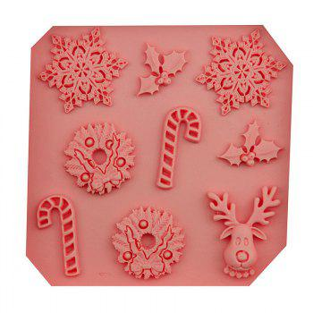 Macroart 2 Pieces Christmas Cooking Utensils Bread Chocolate Cake Silica Gel Baking Tool DIY Cake Molds - COLOR ASSORTED