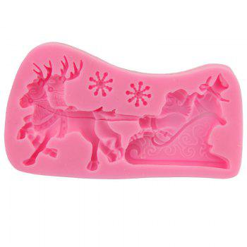 Macroart 2PCS Cake Molds Christmas Cooking Utensils Bread Chocolate Silica Gel Baking Tool DIY -  COLOR ASSORTED