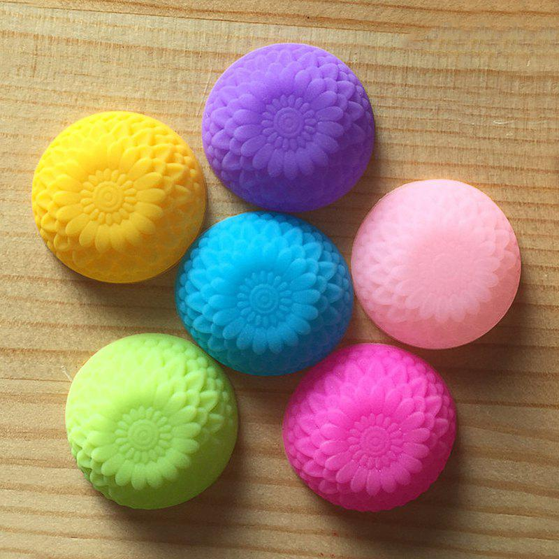 Macroart 6PCS Kitchen Cake Molds Novelty Cooking Utensils Bread Chocolate Cake Silica Gel Baking Tool Creative - COLOR ASSORTED 3*1.5CM