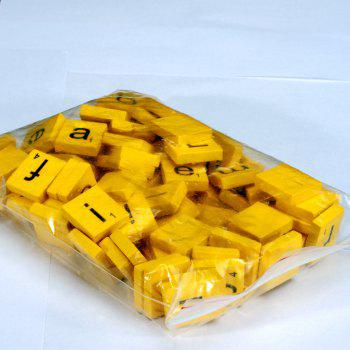 100pcs Lowercase Wooden Scrabble Tiles Crafts Wood Alphabets for Kids -  YELLOW