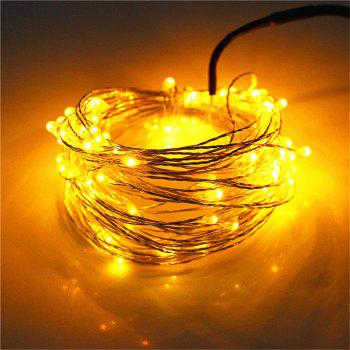 Supli 5M 50 LEDs USB Multi Colors Holiday String Lights Lamp Copper Wire Home Lighting - YELLOW YELLOW