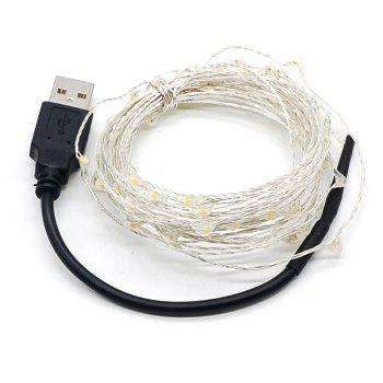 Supli 5M 50 LEDs USB Multi Colors Holiday String Lampes Lampes Éclairage Home - Bleu
