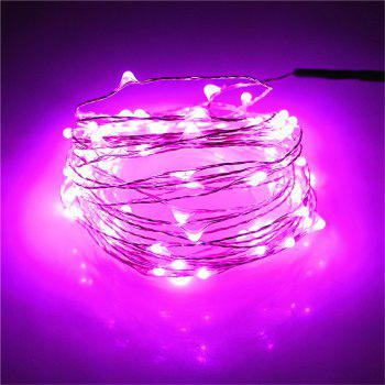 Supli 5M 50 LEDs USB Multi Colors Holiday String Lights Lamp Copper Wire Home Lighting - PINK PINK