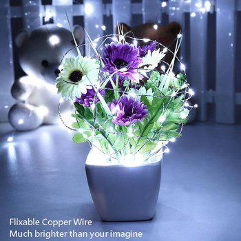 Supli 5M 50 LEDs USB Multi Colors Holiday String Lights Lamp Copper Wire Home Lighting - WHITE WHITE
