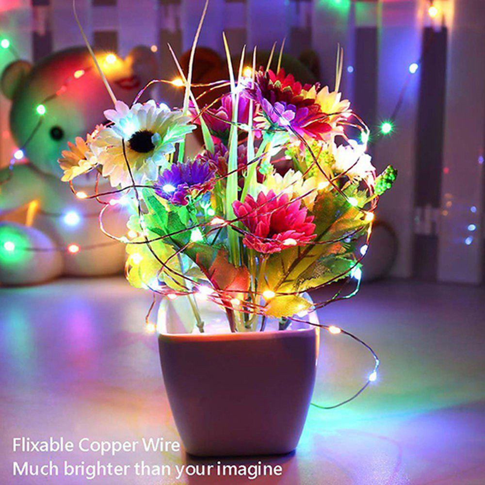 Supli 5M 50 LEDs USB Multi Colors Holiday String Lights Lamp Copper Wire Home Lighting - COLORFUL