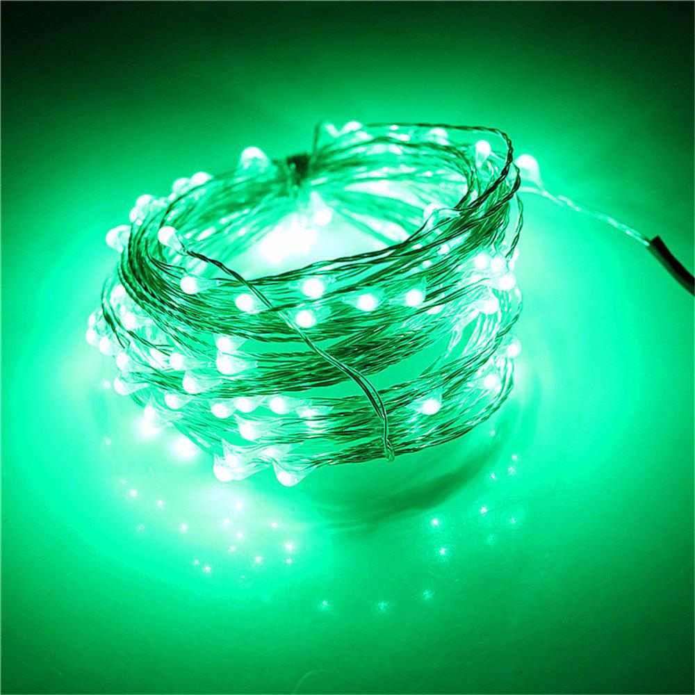 Supli 5M 50 LEDs USB Multi Colors Holiday String Lights Lamp Copper Wire Home Lighting - GREEN