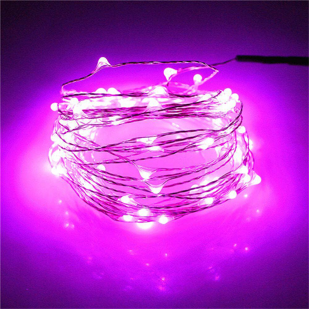 Supli 5M 50 LEDs USB Multi Colors Holiday String Lights Lamp Copper Wire Home Lighting - PINK