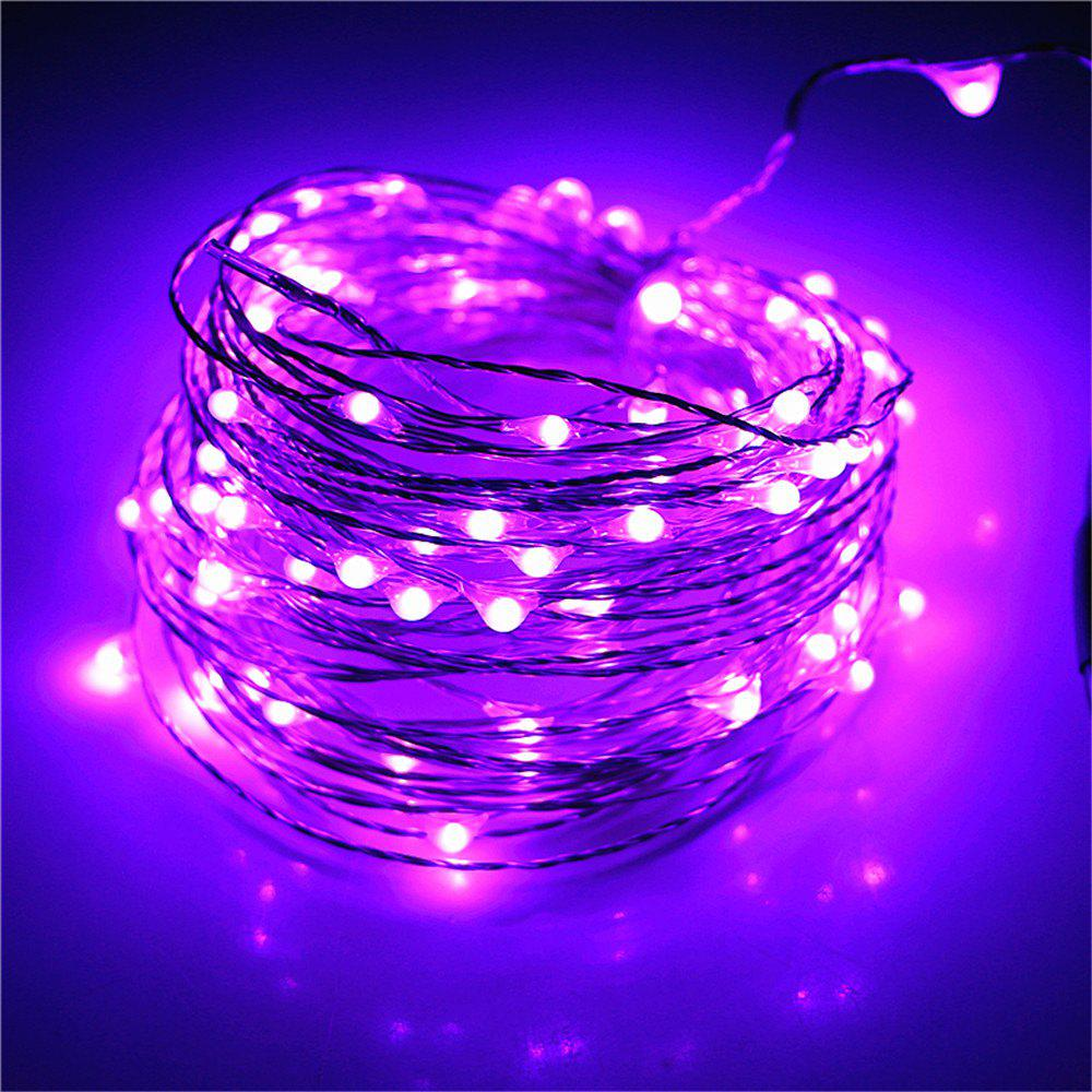 Supli 5M 50 LEDs USB Multi Colors Holiday String Lights Lamp Copper Wire Home Lighting - PURPLE