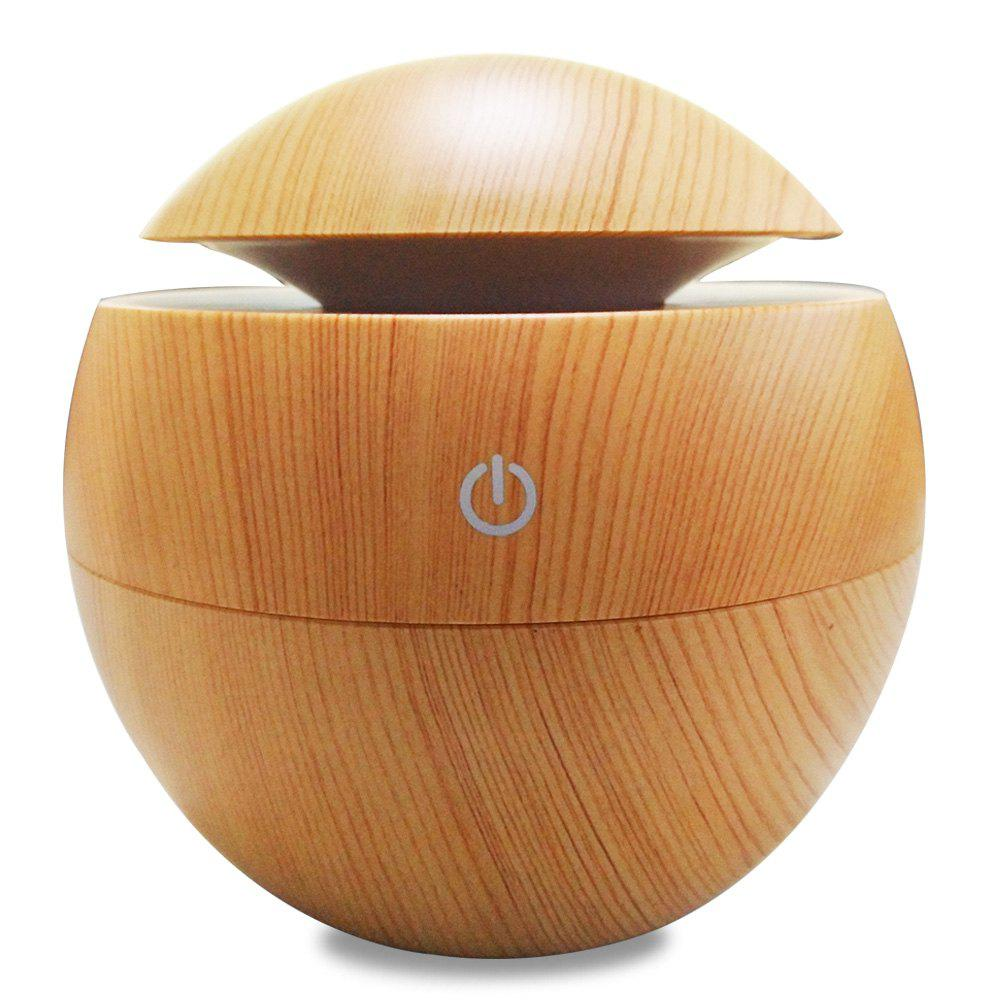 Aroma Essential Oil Diffuser 130ML Aromatherapy Cool Mist Humidifier - WOOD GRAIN