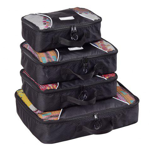 Sac 4pcs / Set Packing Cubes Travel Organizer - Noir