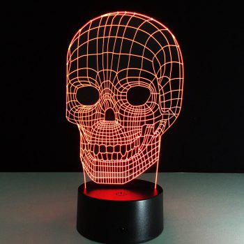 Yeduo Illusion Skeleton 3D LED Night Light Acrylic Colorful Kids Baby Bedroom USB Table Lamp - COLORMIX COLORMIX