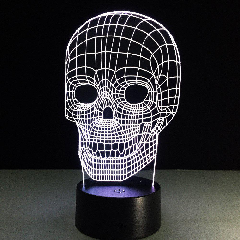 Yeduo Illusion Skeleton 3D LED Night Light Acrylic Colorful Kids Baby Bedroom USB Table Lamp - COLORMIX
