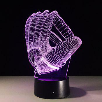 Yeduo 3D Hologram Illusion Palm Night Light LED Lampe d'ambiance à changement de couleur avec chargeur USB - multicolorcolore