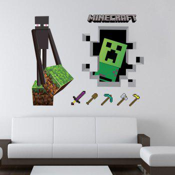 Color tools game 3d wall sticker for home decoration for Decoration 3d games