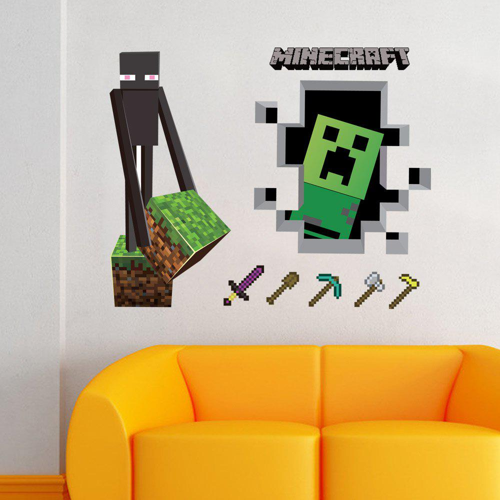 Color Tools Game 3d Wall Sticker For Home Decoration