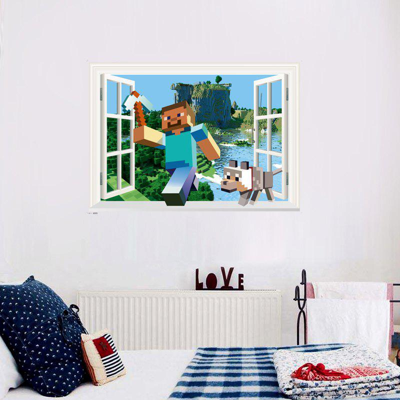 Game Running Together on The River Wall Sticker Home Decor