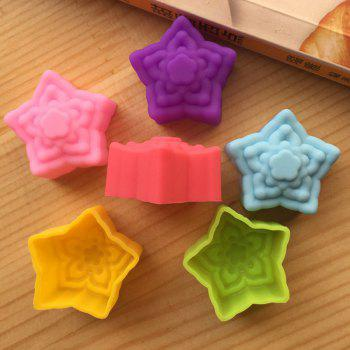 Macroart 6PCS Novelty Cooking Utensils Bread Chocolate Silica Gel Baking Tool Creative Kitchen Gadget Cake Molds - COLOR ASSORTED COLOR ASSORTED