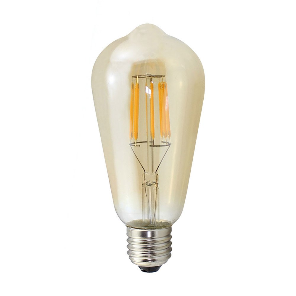 8W Vintage Edison E27 LED Bulbs ST64 Warm White 2700K Lamp 220  - A240V - CLEAR WARM WHITE LIGHT
