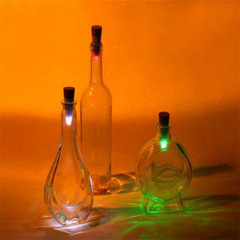 Jueja Cork Shaped Usb Rechargeable Led Rgb Multicolor Transform Night Light Super Bright Empty Wine Bottle Lamp for Festive Atmosphere Lamp - WHITE