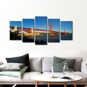 Stetched Goldgen Gate Bridge Canvas Print Modern Wall Art pour bureau Décoration Prêt à accrocher - multicolorcolore