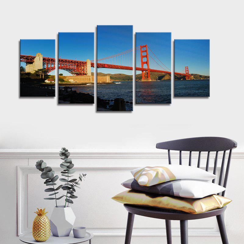 Stetched Goldgen Gate Bridge Canvas Print Modern Wall Art pour bureau Décoration Prêt à accrocher - multicolore