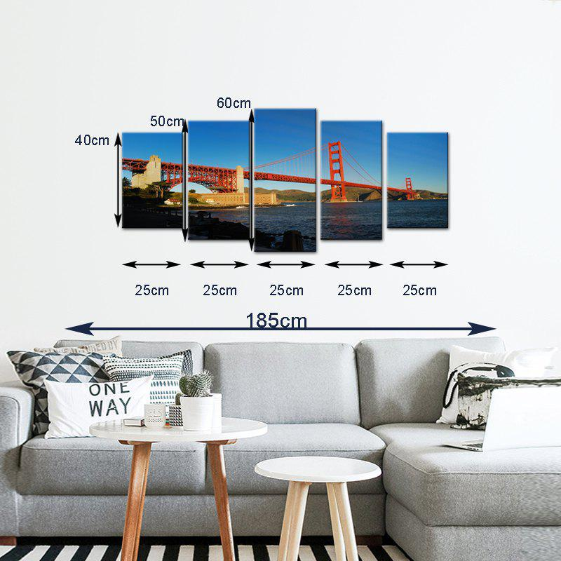 Stetched Goldgen Gate Bridge Canvas Print modern Wall Art for Office Decoration Ready To Hang - COLORMIX