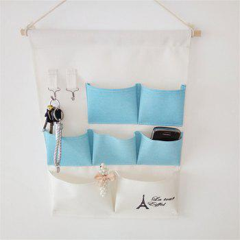 Multi-Functional Stripes Storage Hang Bags - Bleu