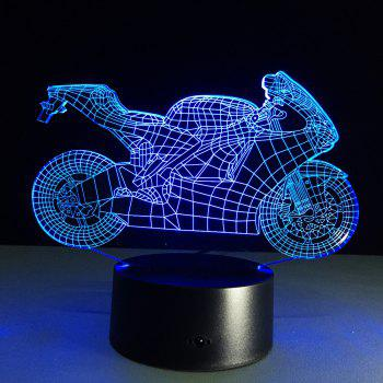 Yeduo 3D Table Lamp Motorcyclenight Lights Led Decorative Lampara Plexiglas Plate Lumineuse Bedside Nightlight Colores Bulbing Lampy -  COLORMIX