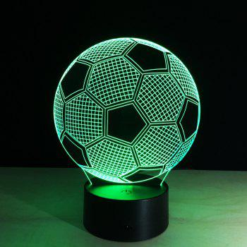 Yeduo New Creative Football Shape 3D Illusion Night Light 7COLORS Changeable for Bedroom Decoration - COLORMIX