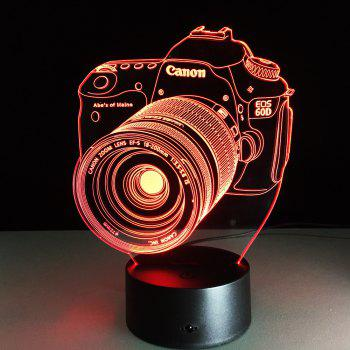 Yeduo Novelty 3D Acrylic Entertainment Camera Illusion Led Lamp Usb Table Light Rgb Night Light Lampe de décoration romantique au couvre-cheuveux