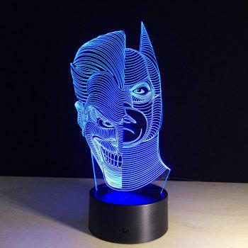 Yeduo Led Night Lights 3D Two-Face Acrylic Discoloration Colorful Atmosphere Lamp Novelty Lighting Creative 3D Illusion Lamp - COLORMIX