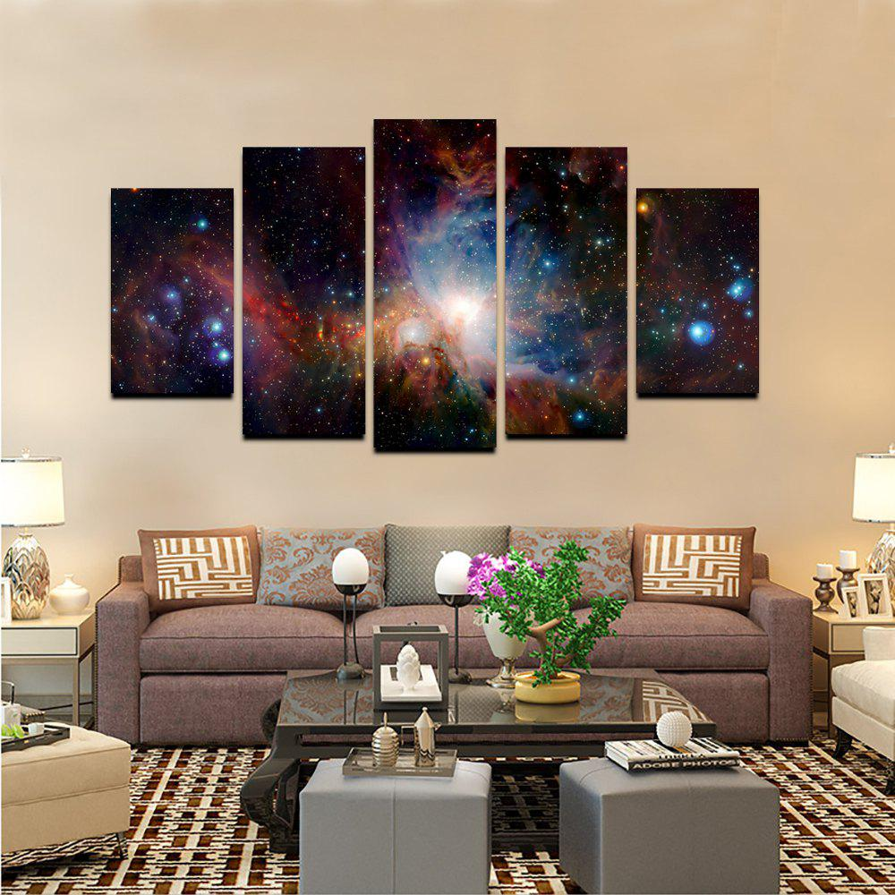 Yhhp 5 Panels Stars Shining Picture Print Modern Wall Art On Canvas Unframed - COLORMIX