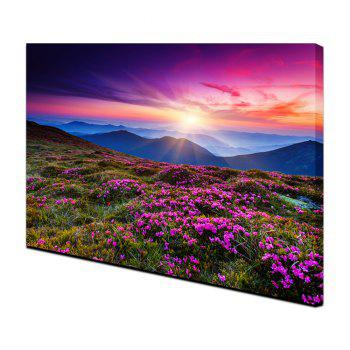 Yhhp Beautiful Scenery Mountain Flower Sea Picture Print Modern Wall Art On Canvas Unframed - COLORMIX 24 X 36 INCH (60CM X 90CM)