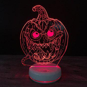 Shelomo 3D Lamp Base Acrylic Plate Accessories for Led Night Light Pumpkin Lantern - COLORFUL 64*35*47MM