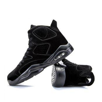 High Top Breathable Basketball Shoes - BLACK 41