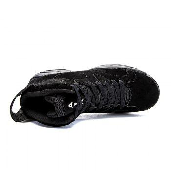 High Top Breathable Basketball Shoes - BLACK 40