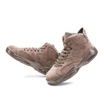 High Top Breathable Basketball Shoes - KHAKI 43