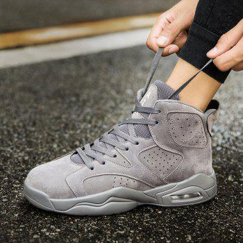 High Top Breathable Basketball Shoes - GRAY GRAY