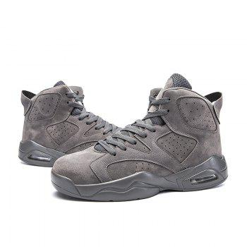 High Top Breathable Basketball Shoes - GRAY 41