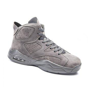 High Top Breathable Basketball Shoes - GRAY 40