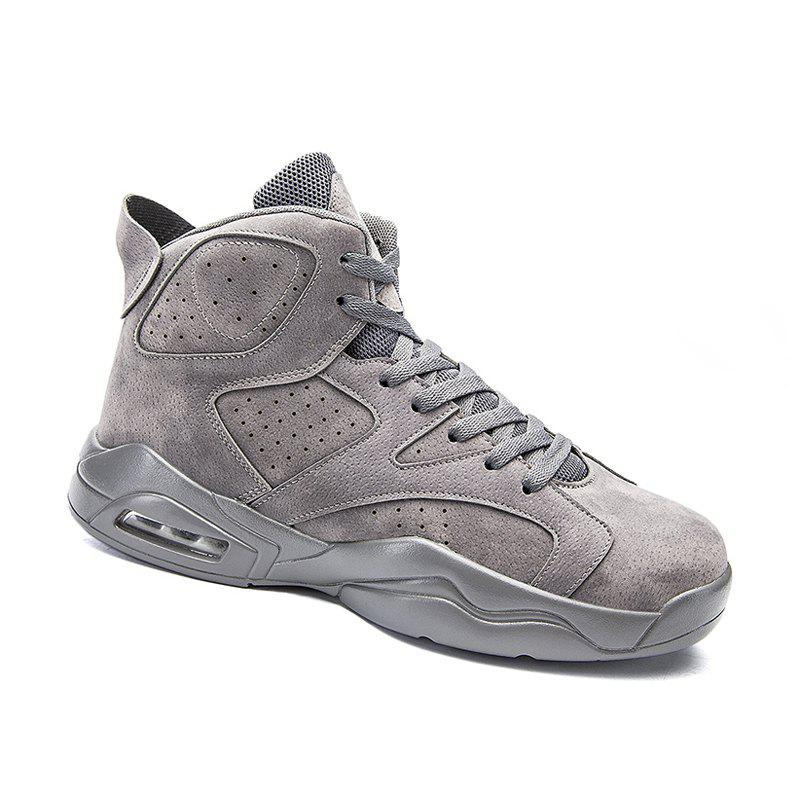 High Top Breathable Basketball Shoes - GRAY 42