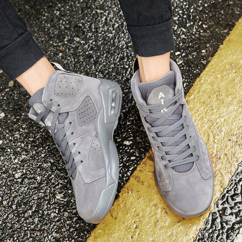 High Top Breathable Basketball Shoes - GRAY 44