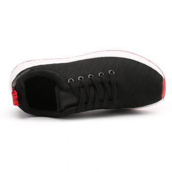 Color Block Knited Sport Shoes - BLACK BLACK