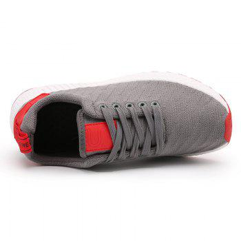 Color Block Knited Sport Shoes - GRAY 41